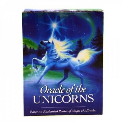 Unicorn Oracle Cards Deck Mysterious Tarot Cards Divination Fate Board Game gift