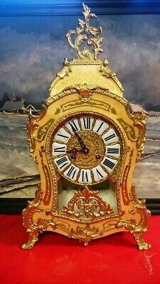 Franz Hermle Vintage Mantle  Antique  Clock Boulle