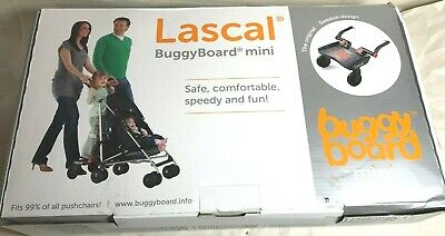 Lascal Buggy Board Mini Standing Platform Stroller Attachment - Red/Black