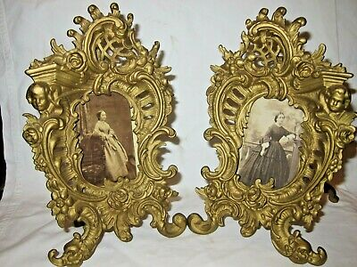 c.1890 Antique French Ormolu Bronze Picture Frames
