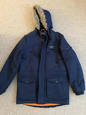 Sonneti Blue Coat With Fur Hood  12-13 Years
