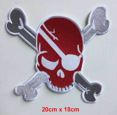 SKULL AND CROSSWORDS Pirate Flag Iron On Patch Sew On Transfer badge fancy Dress