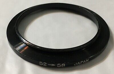 52mm to 58mm Step Up Lens Filter Ring Metal DSLR SLR Digital Camera Adapter