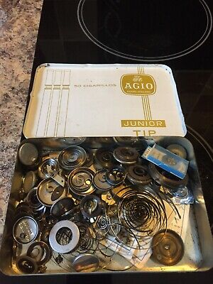 Job Lot Of Vintage Watchmakers Mainsprings