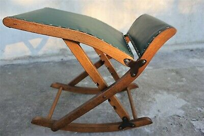 Vintage folding foot stool or small rocking chair Rocking Vinil Stool Foot Rest