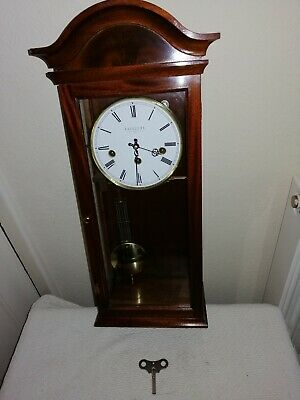Comitti of London, Westminster Chimes Wall Clock, Very Good Condition & Working.