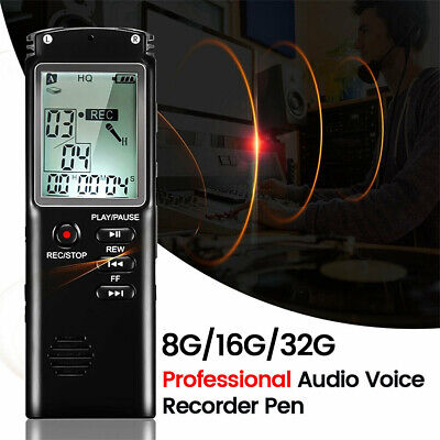 32GB Rechargeable LCD Digital Audio Sound Voice Recorder Dictaphone MP3 Player Z