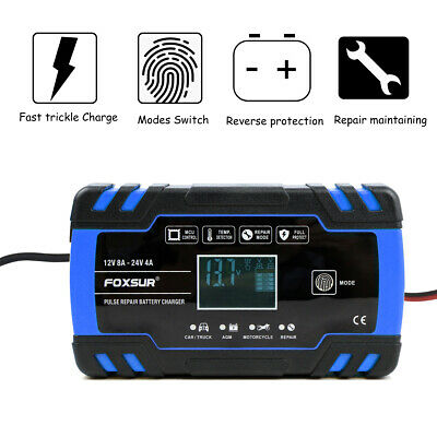 12/24V Car Battery Charger Automatic Intelligent Lead Acid Pulse Repair Starter