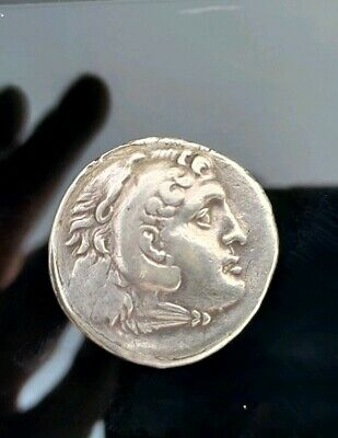ALEXANDER III the GREAT Tetradrachm Silver Ancient Greek Coin very rare stamp