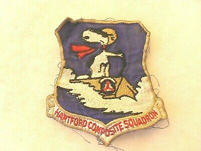 Rare 50/60'S Hartford Composite Sqdn C.a.p. Famous Snoopy Design On Twill  Patch