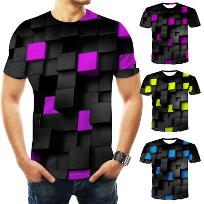 Men Basic T SHIRT Extended Long Fashion Casual Crew Neck Hipster Tee Tops
