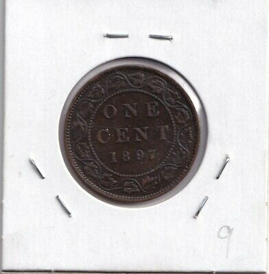 1897 Canada Large Cent Old Queen Victoria Coin - Nice Shape Very Fine!