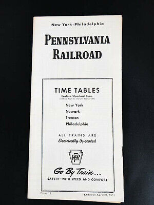 Vintage 1953 Railroad Train PENNSYLVANIA RAILROAD New York TIME TABLES