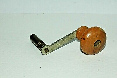 ANTIQUE GRANDFATHER CLOCK KEY, 5 mm SQUARE WINDER.Steel &Brass/Wood