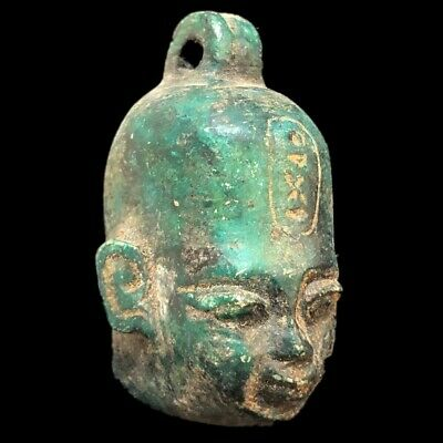 Beautiful Ancient Egyptian Bust Amulet 300 Bc (5)