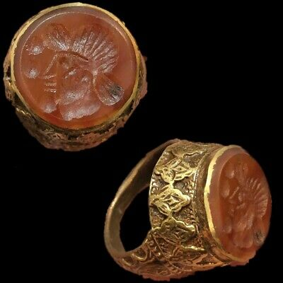 Stunning Top Quality Intaglio Seal Stone Ring (4)