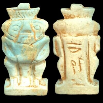 Beautiful Ancient Egyptian Bes Amulet 300 Bc (8)