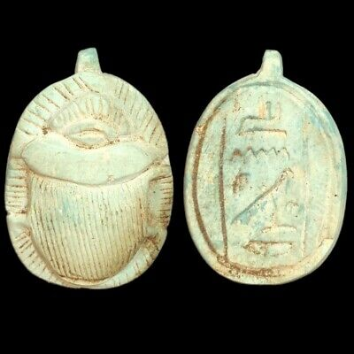 Beautiful Ancient Egyptian Scarab Amulet 300 Bc (12)