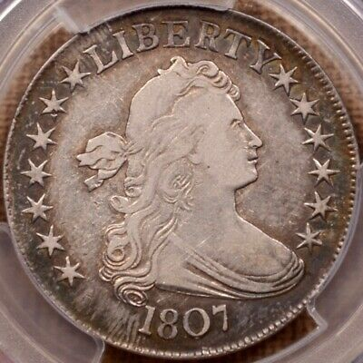 1807 O.102 Draped Bust half dollar, PCGS VF30, very pleasing  DavidKahnRareCoins