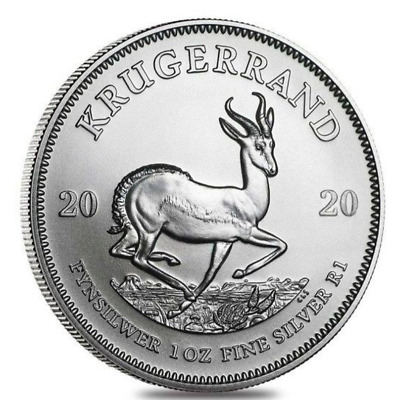 Krugerrand 2020 -  1 once argent silver .999 - South Africa 1 oz coin