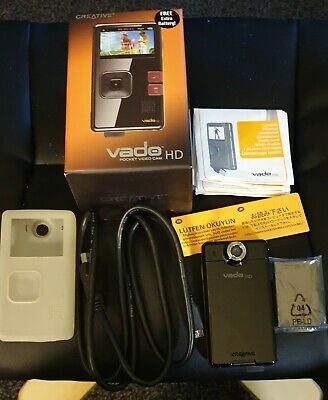 Creative Vado Pocket Video Cam HD & Spare Battery+ Gel Case