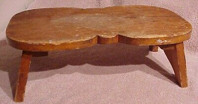 Primitive Antique Rustic Handcrafted Wooden Step Milking Stool Gardening Seat