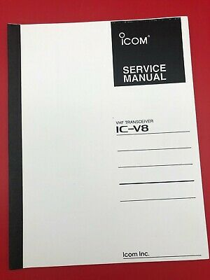 Original ICOM IC-V8 VHF Radio Transceiver Service Manual with Schematics