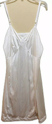 SEARS Silky Shimmery Anti Cling Antron Nylon III Dress Slip Nightgown Sz 36 Vtg