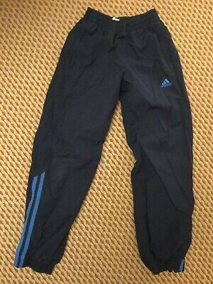 Boys Blue tracksuit bottom age 9-10 years excellent condition hardly worn adidas
