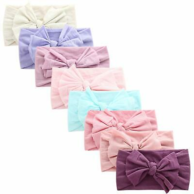 COUXILY Baby Girls Soft Cotton Headbands Bow Knotted Hairband Kids Gift Set(A05)