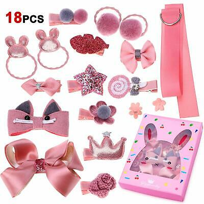 18 PCS Hair Clip for Baby Girls,Hair Ties Accessories Set for Teens Girls Gifts