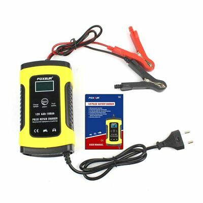 chargeur de batterie de voiture moto intelligente d'impulsion 12V 5A LCD