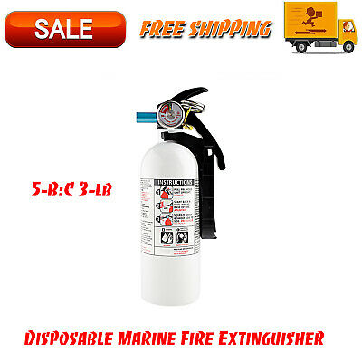 5-B:C 3-lb Disposable Marine Fire Extinguisher, Facility Safety Equipment
