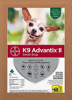 K9 Advantix II Flea & Tick Treatment for Small Dogs 4-10 lbs - 6 Pack