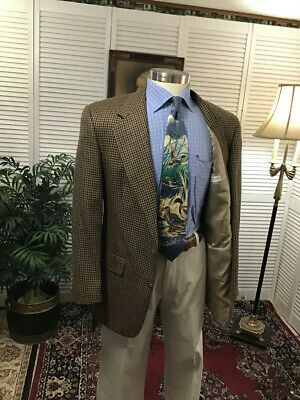 Austin Reed Brown Hounds Tooth Check Mens Sports Coat Jacket Blazer  40R  #C4