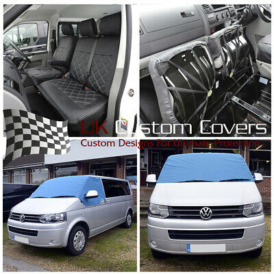 Vw Transporter T6 2015+ Leatherette Front Seat Covers/Screen Wrap 190 209