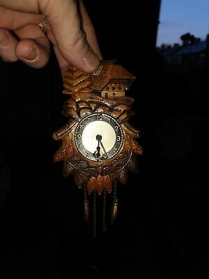 Antique Style Mechanical Cuckoo Clock Black Forest very old vgc working
