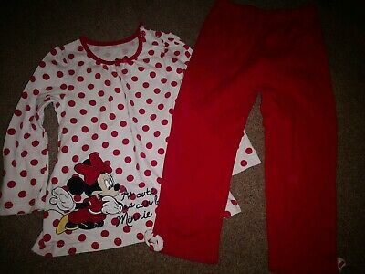 Mothercare Girls Minnie Mouse Pyjamas Age 2-3 Years