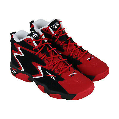 Reebok Mobius Og MU CN7905 Mens Red Lace Up Athletic Gym Basketball Shoes