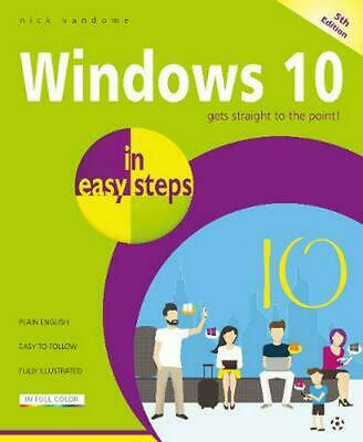 Windows 10 in easy steps by Nick Vandome Paperback Book Free Shipping!
