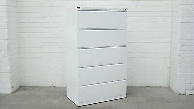 Office/Home Schiavello 5 Drawer Lateral Filing Cabinet White Metal 40408