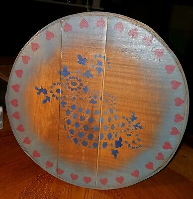 Antique Vintage Country Primitive Cheese Pantry Box Stencils Folk Art Country