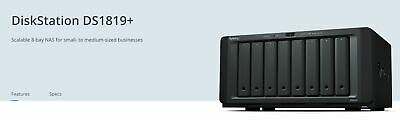 NEW BASY-DS1819PLUS DS1819+, SYNOLOGY DISKSTATION DS1819+ 8-BAY 3.5' DISKLES.e.