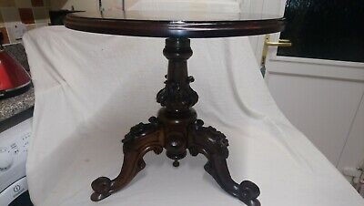 Antique Mahogany 3leg Piano Stool Converted Into Occasional Table 18-23high