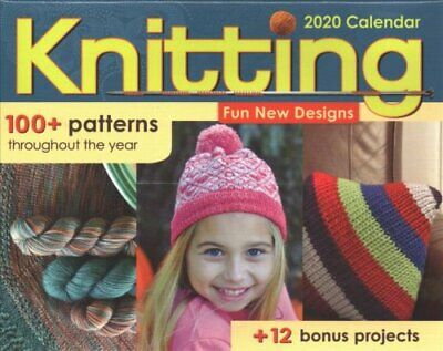 Knitting 2020 Activity Day-to-Day Calenar 9781524850845   Brand New