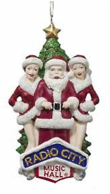 "6"" Red and White Rockettes with Santa Claus Christmas Ornament"