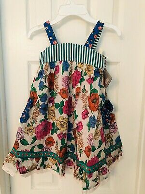 Nwt Matilda Jane 💙 Can Do Attitude Dress Girls Size 6. Just Too Cute 💚