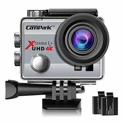 Campark ACT74 Action Camera 4K 30fps WiFi Ultra HD Waterproof Sports (Silver)