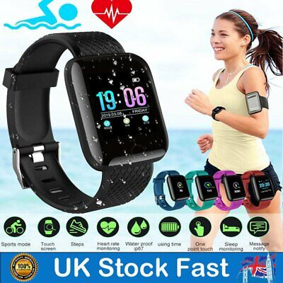 Blood Pressure Waterproof Smartwatch Heart Rate Monitor Fitness Tracker Watch UK