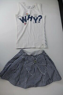 Miss Grant Girls Outfit, Size Age 11-12 Years, Skirt & Top, Blue & White, Vgc
